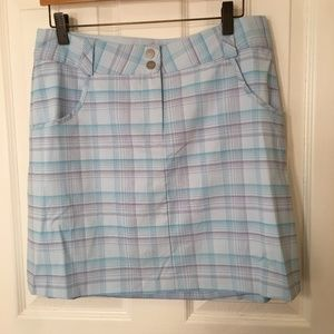 Nike Golf Dri-Fit Baby Blue Skort Size 8 EUC